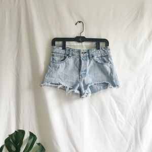 Free People Jean semihigh waisted distressed short